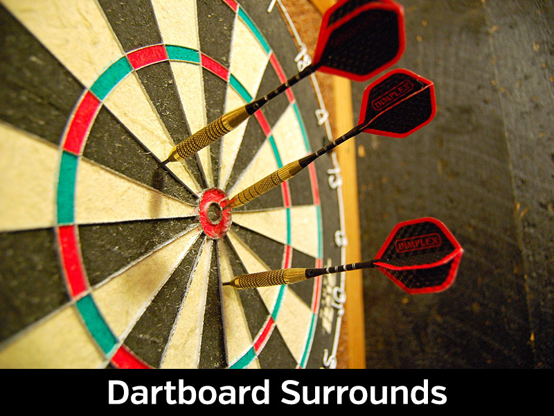 Viper Wood Framed Dartboard Backboard Mahogany Finish Wall Protector Free Ship