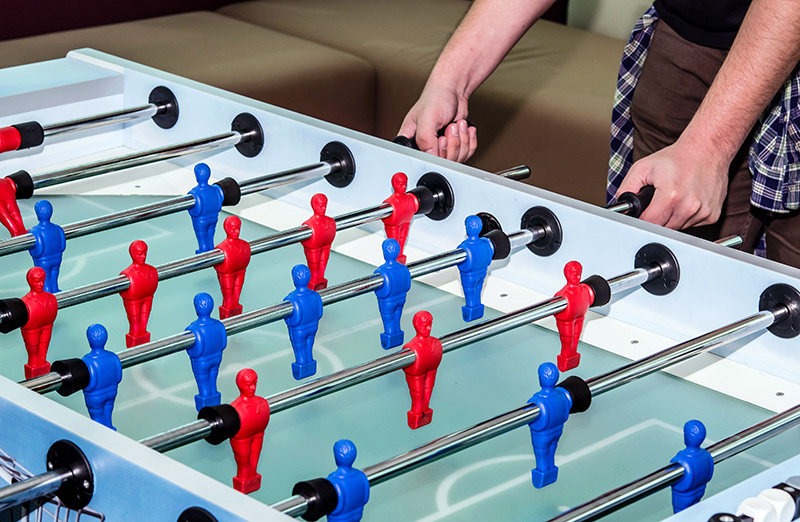 Play Foosball By Yourself